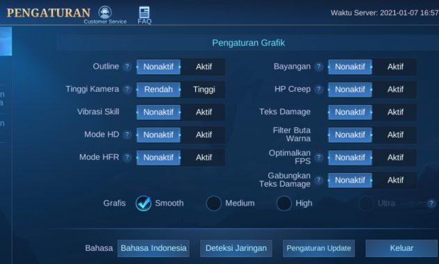atasi anti lag mobile legends