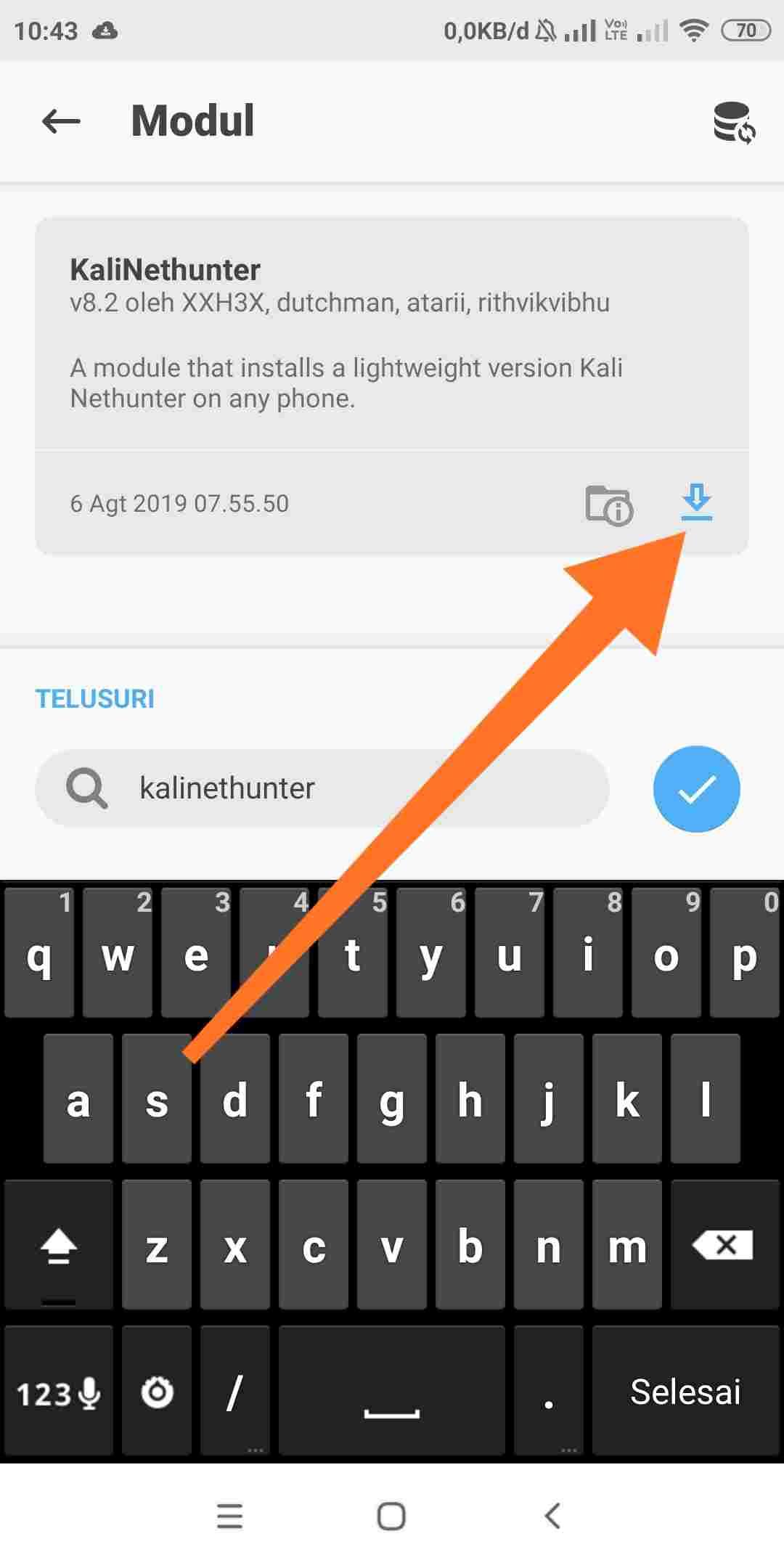 Cara install kalinethunter