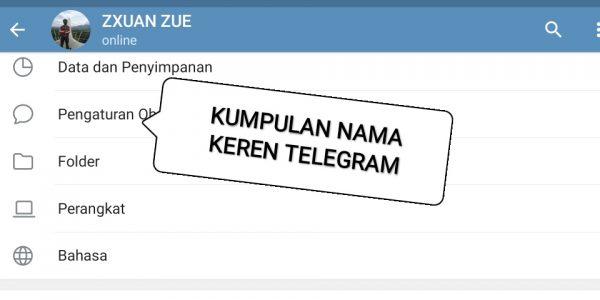 Nama Username, Grup dan Channel Telegram Keren