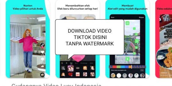 Cara Download Video di TikTok Tanpa Watermark