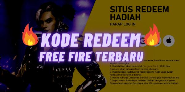 Kode Redeem Free Fire (FF) Sabtu 23 Januari 2021